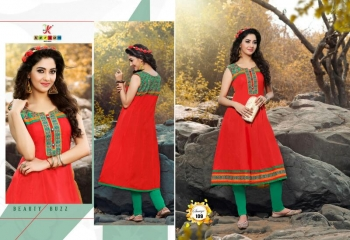 SAAVYA Cotton Heavy Lon KURTIS FANCY KESROM WHOLESALE BEST RATE BY GOSIYA EXPORTS (14)