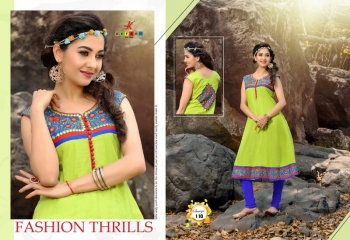 SAAVYA Cotton Heavy Lon KURTIS FANCY KESROM WHOLESALE BEST RATE BY GOSIYA EXPORTS (6)