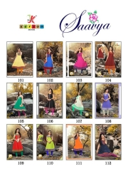 SAAVYA Cotton Heavy Lon KURTIS FANCY KESROM WHOLESALE BEST RATE BY GOSIYA EXPORTS (7)
