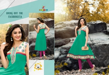 SAAVYA Cotton Heavy Lon KURTIS FANCY KESROM WHOLESALE BEST RATE BY GOSIYA EXPORTS (8)