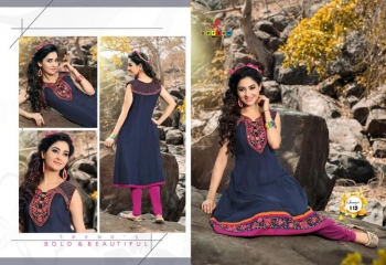 SAAVYA Cotton Heavy Lon KURTIS FANCY KESROM WHOLESALE BEST RATE BY GOSIYA EXPORTS (9)