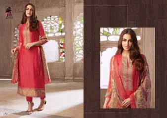 SAHIBA NEW CATALOG ABIR VOL 3 CHANDERI SALWAR WHOLESALE RATE BY GOSIYA EXPORTS SUIT SAHIBA CATALOGS (1)