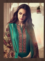 SAHIBA NEW CATALOG ABIR VOL 3 CHANDERI SALWAR WHOLESALE RATE BY GOSIYA EXPORTS SUIT SAHIBA CATALOGS