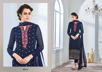 SAHIBA NOUR VO 9 GEORGETTE EMBROIDERY SUITS WHOLESALE BY GOSIYA EXPORTS SURAT (6)