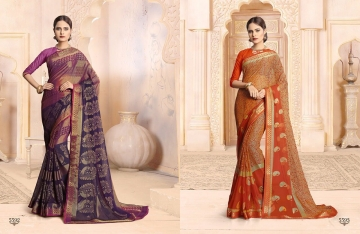 SAIANSH HASEENA CATALOGUE KHUSHI BRASSO CASUAL WEAR SAREES COLLECTION DEALER BEST RATE BY GOSIYA EXPORTS SURAT (2)