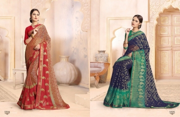 SAIANSH HASEENA CATALOGUE KHUSHI BRASSO CASUAL WEAR SAREES COLLECTION DEALER BEST RATE BY GOSIYA EXPORTS SURAT (3)