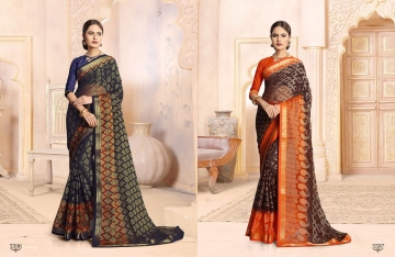 SAIANSH HASEENA CATALOGUE KHUSHI BRASSO CASUAL WEAR SAREES COLLECTION DEALER BEST RATE BY GOSIYA EXPORTS SURAT (4)