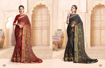 SAIANSH HASEENA CATALOGUE KHUSHI BRASSO CASUAL WEAR SAREES COLLECTION DEALER BEST RATE BY GOSIYA EXPORTS SURAT (5)