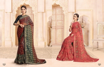 SAIANSH HASEENA CATALOGUE KHUSHI BRASSO CASUAL WEAR SAREES COLLECTION DEALER BEST RATE BY GOSIYA EXPORTS SURAT (6)