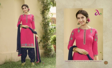 SAINA PATIYALA BY ANGROOP PLUS COTTON CAMBRIC CASUAL WEAR SALWAR KAMEEZ WHOLESALE BEST ARET BY GOSIYA EXPORST SURAT (22)