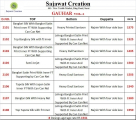 SAJAWAT CREATION GAUHAR VOL 1 CROP TOP READY MADE CATALOG BEST RATE (9)