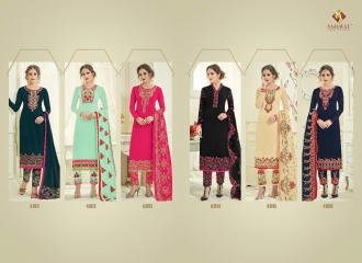 SAJAWAT CREATION SF VOL 4 CATALOGUE GEORGETTE STRAIGHT PARTY WEAR SALWAR (7)