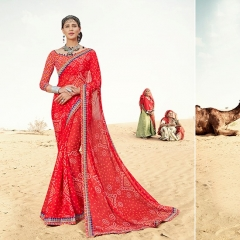 SANSKAR BANDHANI COLLECTION PANIHARI EXCLUSIVE BANDHANI SAREE CATALOG WHOLESAEL BEST RATE BY GOSIYA EXPORTS (8)