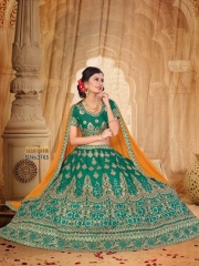 SANSKAR STYLE MANTHAN CATALOG FANCY KASHMIRI WORK NETT LEHENGA WHOLESALER BEST RATE BY GOSIYA EXPORTS SURAT (1)