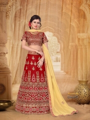 SANSKAR STYLE MANTHAN CATALOG FANCY KASHMIRI WORK NETT LEHENGA WHOLESALER BEST RATE BY GOSIYA EXPORTS SURAT (9)