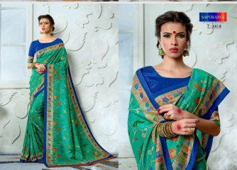 SAPTRANGI DIGITAL PRINT TUSSER SILK SIGNATURE SAREES COLLECTION (1)