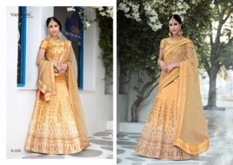 SAPTRANGI VASTREENI PURE HERITAGE SILK PRINTS WITH WORK WEDDING LEHENGA COLLECTION (1)