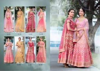 SAPTRANGI VASTREENI PURE HERITAGE SILK PRINTS WITH WORK WEDDING LEHENGA COLLECTION (10)