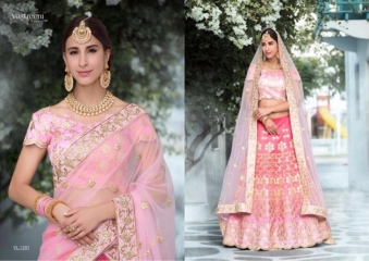 SAPTRANGI VASTREENI PURE HERITAGE SILK PRINTS WITH WORK WEDDING LEHENGA COLLECTION (2)