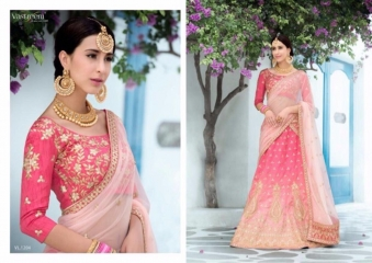 SAPTRANGI VASTREENI PURE HERITAGE SILK PRINTS WITH WORK WEDDING LEHENGA COLLECTION (4)