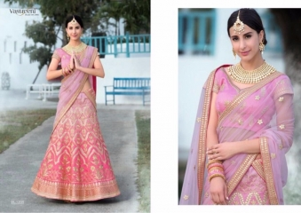 SAPTRANGI VASTREENI PURE HERITAGE SILK PRINTS WITH WORK WEDDING LEHENGA COLLECTION (5)