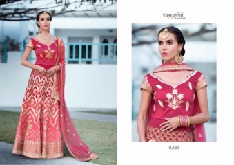 SAPTRANGI VASTREENI PURE HERITAGE SILK PRINTS WITH WORK WEDDING LEHENGA COLLECTION (7)