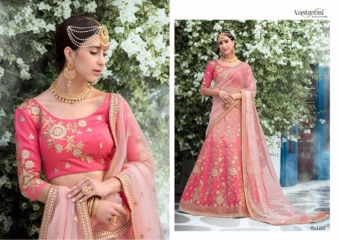 SAPTRANGI VASTREENI PURE HERITAGE SILK PRINTS WITH WORK WEDDING LEHENGA COLLECTION (8)