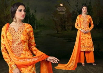 SARGAM PRINTS BY CHAHAT JAM SILK EMBROIDERED SALWAR KAMEEZ WHOLESALE BEST RATE (7)