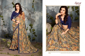 SAROJ BY DOLPHIN GEORGETTE PRINT SAREES CATALOG WHOLESALE SURAT BY SAROJ (1)