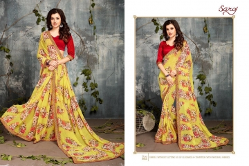 SAROJ BY DOLPHIN GEORGETTE PRINT SAREES CATALOG WHOLESALE SURAT BY SAROJ (12)