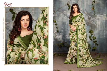 SAROJ BY DOLPHIN GEORGETTE PRINT SAREES CATALOG WHOLESALE SURAT BY SAROJ (3)