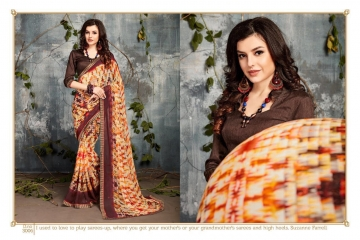 SAROJ BY DOLPHIN GEORGETTE PRINT SAREES CATALOG WHOLESALE SURAT BY SAROJ (6)