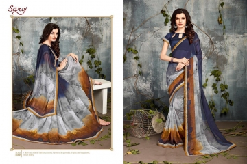 SAROJ BY DOLPHIN GEORGETTE PRINT SAREES CATALOG WHOLESALE SURAT BY SAROJ (8)