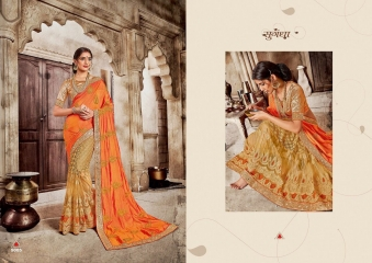 SAROJ GARIMA EXCLUSIVE FANCY SAREE CATALOG IN WHOLESALE BEST RATE BY GOSIYA EXPORTS (15)
