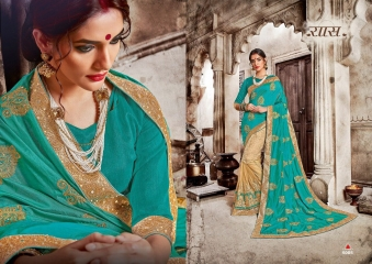 SAROJ GARIMA EXCLUSIVE FANCY SAREE CATALOG IN WHOLESALE BEST RATE BY GOSIYA EXPORTS (16)