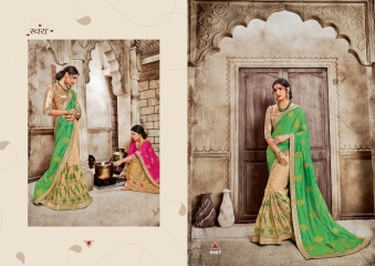 SAROJ GARIMA EXCLUSIVE FANCY SAREE CATALOG IN WHOLESALE BEST RATE BY GOSIYA EXPORTS (18)