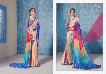 SAROJ GORGEOUS GEORGETTE PRINTS SAREES WHOLESALE BEST RATE SURAT BY GOSIYA EXPORTS SURAT INDIA (10)