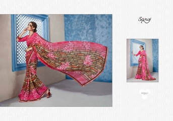 SAROJ GORGEOUS GEORGETTE PRINTS SAREES WHOLESALE BEST RATE SURAT BY GOSIYA EXPORTS SURAT INDIA (11)