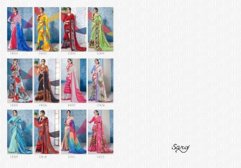 SAROJ GORGEOUS GEORGETTE PRINTS SAREES WHOLESALE BEST RATE SURAT BY GOSIYA EXPORTS SURAT INDIA (12)