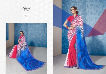SAROJ GORGEOUS GEORGETTE PRINTS SAREES WHOLESALE BEST RATE SURAT BY GOSIYA EXPORTS SURAT INDIA (13)