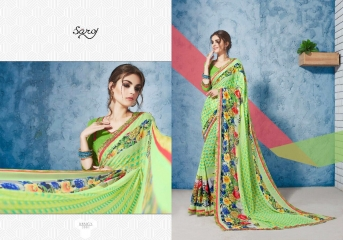 SAROJ GORGEOUS GEORGETTE PRINTS SAREES WHOLESALE BEST RATE SURAT BY GOSIYA EXPORTS SURAT INDIA (3)