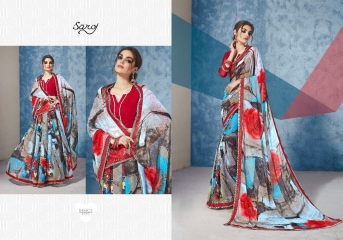 SAROJ GORGEOUS GEORGETTE PRINTS SAREES WHOLESALE BEST RATE SURAT BY GOSIYA EXPORTS SURAT INDIA (4)