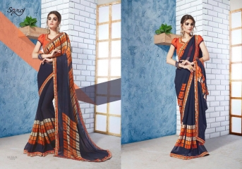 SAROJ GORGEOUS GEORGETTE PRINTS SAREES WHOLESALE BEST RATE SURAT BY GOSIYA EXPORTS SURAT INDIA (5)