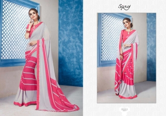 SAROJ GORGEOUS GEORGETTE PRINTS SAREES WHOLESALE BEST RATE SURAT BY GOSIYA EXPORTS SURAT INDIA (6)