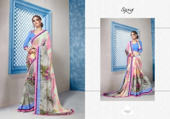 SAROJ GORGEOUS GEORGETTE PRINTS SAREES WHOLESALE BEST RATE SURAT BY GOSIYA EXPORTS SURAT INDIA (7)