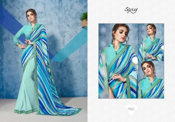 SAROJ GORGEOUS GEORGETTE PRINTS SAREES WHOLESALE BEST RATE SURAT BY GOSIYA EXPORTS SURAT INDIA (8)