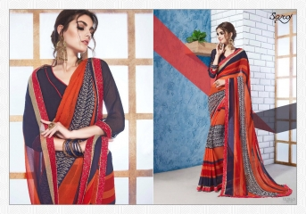 SAROJ GORGEOUS GEORGETTE PRINTS SAREES WHOLESALE BEST RATE SURAT BY GOSIYA EXPORTS SURAT INDIA (9)