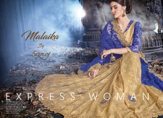 SAROJ MALAIKA FANCY SAREES WHOLESALE RATE AT GOSIYA EXPORTS SURAT WHOLESALE DEALER AND SUPPLAYER SURAT GUJARAT (4)