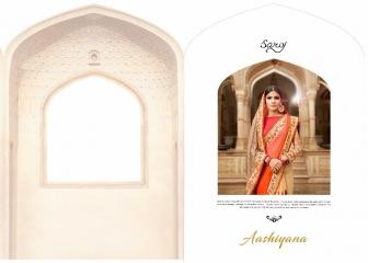 SAROJ SAREE ASHIYANA BEAUTIFUL PART WEAR INDIAN SAREE CATALOG IN WHOLESALE BEST RATE BY GOSIYA EXPORTS SURAT (1)