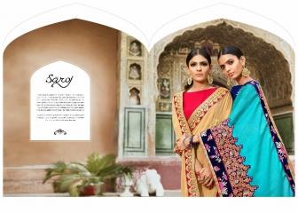 SAROJ SAREE ASHIYANA BEAUTIFUL PART WEAR INDIAN SAREE CATALOG IN WHOLESALE BEST RATE BY GOSIYA EXPORTS SURAT (2)